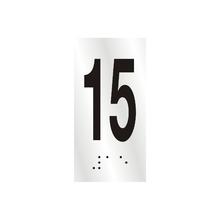 "Número ""15"" 7cm Alumínio Prata Sinalize"