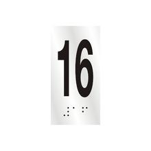 "Número ""16"" 7cm Alumínio Prata Sinalize"