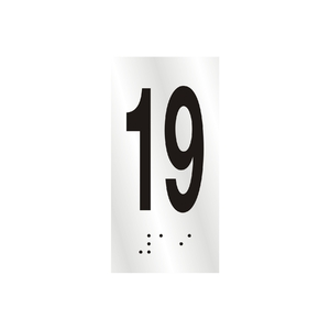 "Número ""19"" 7cm Alumínio Prata Sinalize"