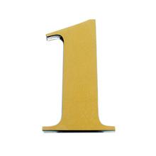 "Número ""1"" 14,5cm Acrílico Ouro Kami Acrílicos"