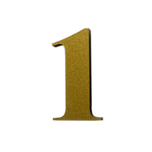 "Número ""1"" 4cm Acrílico Ouro Kami Acrílicos"
