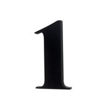 "Número ""1"" 4cm Acrílico Preto Kami Acrílicos"