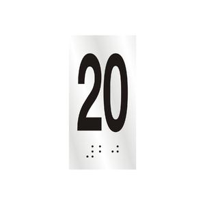 "Número ""20"" 7cm Alumínio Prata Sinalize"