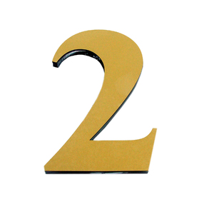 "Número ""2"" 14,5cm Acrílico Ouro Kami Acrílicos"