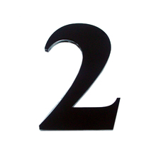 "Número ""2"" 14,5cm Acrílico Preto Kami Acrílicos"
