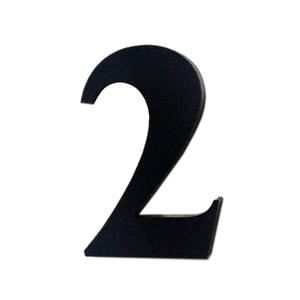 "Número ""2"" 4cm Acrílico Preto Kami Acrílicos"
