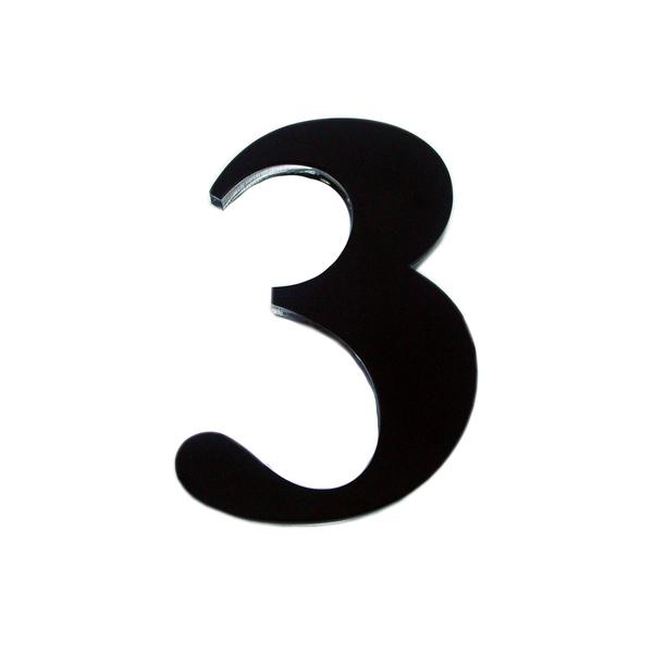 N mero casa 3 14 5cm adesivo acr lico preto leroy merlin - Numeros para casas leroy merlin ...