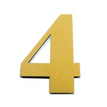 "Número ""4""  14,5cm Acrílico Ouro Kami Acrílicos"