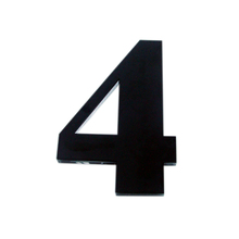 "Número ""4""  14,5cm Acrílico Preto Kami Acrílicos"