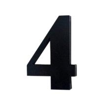 "Número ""4""  4cm Acrílico Preto Kami Acrílicos"