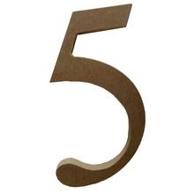 """Número """"5"""" 20cm MDF Home Wood"""