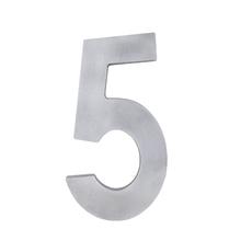 """Número """"5"""" 22cm Alumínio Cinza"""