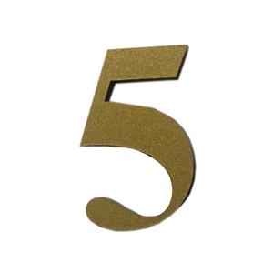 "Número ""5"" 4cm Acrílico Ouro Kami Acrílicos"