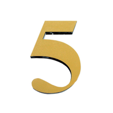 "Número ""5""  14,5cm Acrílico Ouro Kami Acrílicos"