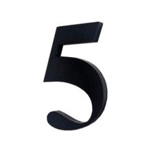 "Número ""5""  4cm Acrílico Preto Kami Acrílicos"