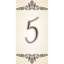 Número 5 em Cerâmica Bege Gabriella