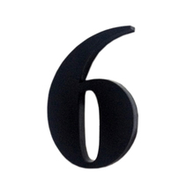 "Número ""6"" 4cm Acrílico Preto Kami Acrílicos"