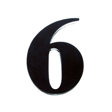 "Número ""6""  14,5cm Acrílico Preto Kami Acrílicos"