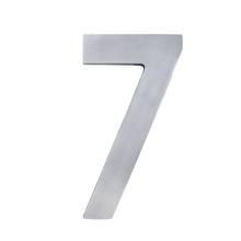 """Número """"7"""" 22cm Alumínio Cinza"""