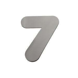 """Número """"7"""" 40mm Aço Inox Escovado Prata Geris"""