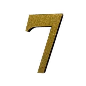 "Número ""7"" 4cm Acrílico Ouro Kami Acrílicos"