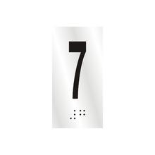 "Número ""7"" 7cm Alumínio Prata Sinalize"