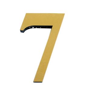 "Número ""7""  14,5cm Acrílico Ouro Kami Acrílicos"