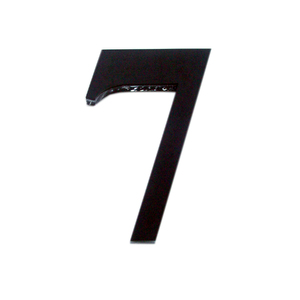 "Número ""7""  14,5cm Acrílico Preto Kami Acrílicos"