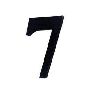 "Número ""7""  4cm Acrílico Preto Kami Acrílicos"