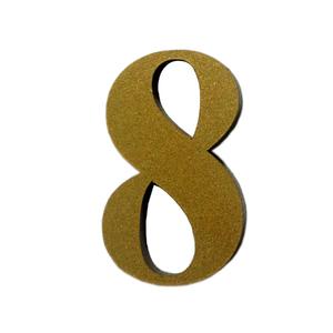 "Número ""8"" 4cm Acrílico Ouro Kami Acrílicos"