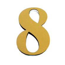 "Número ""8""  14,5cm Acrílico Ouro Kami Acrílicos"