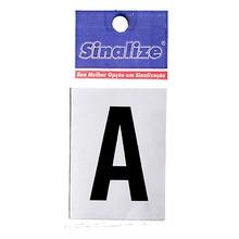 Número Autoadesivo Letra A 5 cmx2,5 cm Cantos retos Sinalize