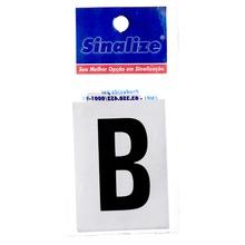 Número Autoadesivo Letra B 5 cmx2,5 cm Cantos retos Sinalize