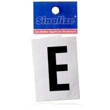 Número Autoadesivo Letra E 5 cmx2,5 cm Cantos retos Sinalize