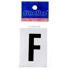 Número Autoadesivo Letra F 5 cmx2,5 cm Cantos retos Sinalize