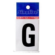 Número Autoadesivo Letra G 5 cmx2,5 cm Cantos retos Sinalize