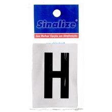 Número Autoadesivo Letra H 5 cmx2,5 cm Cantos retos Sinalize
