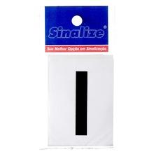 Número Autoadesivo Letra I 5 cmx2,5 cm Cantos retos Sinalize