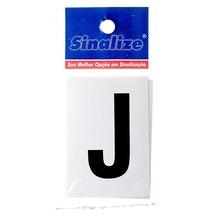 Número Autoadesivo Letra J 5 cmx2,5 cm Cantos retos Sinalize