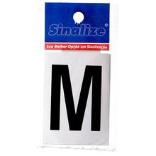 Número Autoadesivo Letra M 5 cmx2,5 cm Cantos retos Sinalize