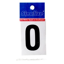 Número Autoadesivo Letra O 5 cmx2,5 cm Cantos retos Sinalize