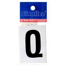Número Autoadesivo Letra Q 5 cmx2,5 cm Cantos retos Sinalize
