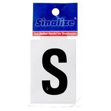 Número Autoadesivo Letra S 5 cmx2,5 cm Cantos retos Sinalize