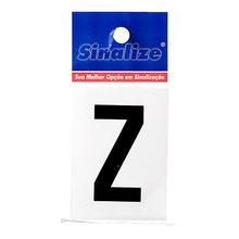 Número Autoadesivo Letra Z 5 cmx2,5 cm Cantos retos Sinalize
