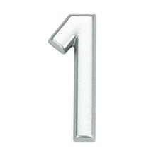 Número para Apartamento Número 1 3,9 cmx1,8 cm Cromado Bemfixa
