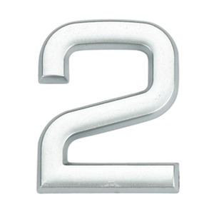 Número para Apartamento Número 2 3,9 cmx1,8 cm Cromado Bemfixa