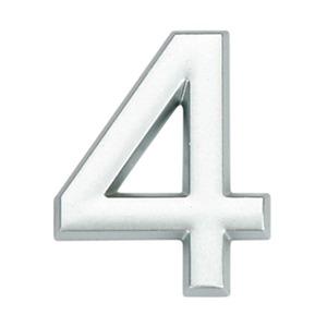 Número para Apartamento Número 4 3,9 cmx1,8 cm Cromado Bemfixa