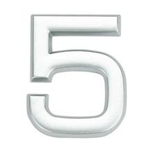 Número para Apartamento Número 5 3,9 cmx1,8 cm Cromado Bemfixa