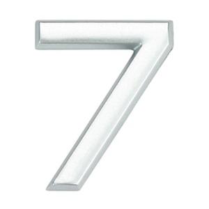 Número para Apartamento Número 7 3,9 cmx1,8 cm Cromado Bemfixa