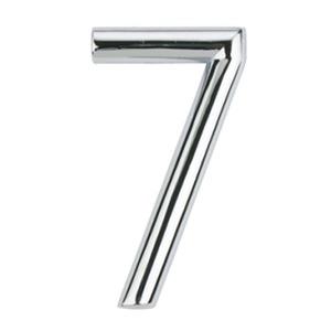 Número para Apartamento Número 7 7,5 cmx4 cm Cromado Bemfixa